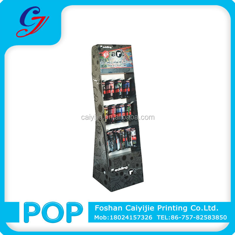 Store excellent paper display stand for bulb lighter cardboard display unit