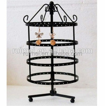 wholesale metal counter top spinning jewelry rack hanging display