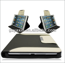 New product stand wallet leather case for ipad mini
