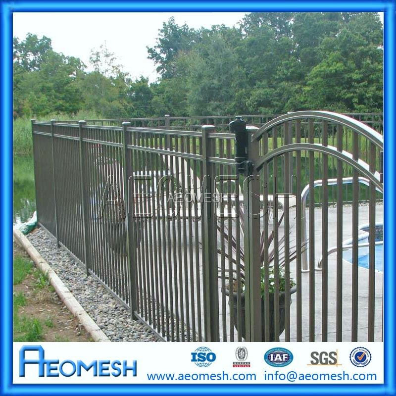 High quality wrought iron fence cap / wrought iron fence price / wire mesh fence for boundary wall