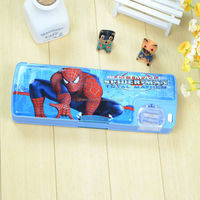 Multifunction Plastic Pencil Case With Roll Sharpner