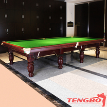 Popular design solid wood English style TB-UK004 12ft snooker table price