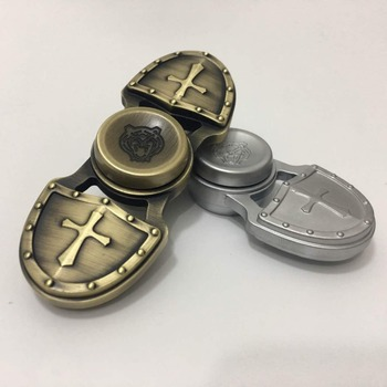 Personalized Two-leaf Zinc Alloy Hand Fidget Spinner For Pressure Relief