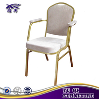 hotel dining banquet stacking chair arm chair
