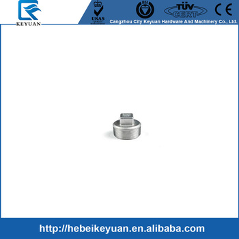"Square Plug 1/4"" male stainless steel pipe fittings NPT"