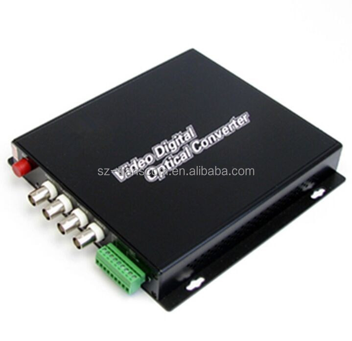 4 channel video converter for CCTV supervisory system + rs485 data