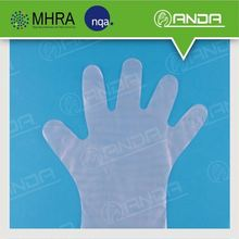 AD002 disposable household or hairdressing PE hand plastic glove