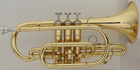 china musical instruments with higher quality gold lacquer bb cornet for distributor