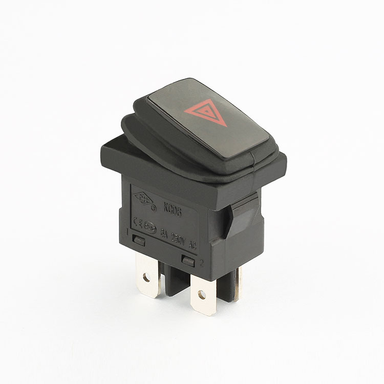 hot sell 6a 250v 4 pin on off kcd6 rocker switch t55