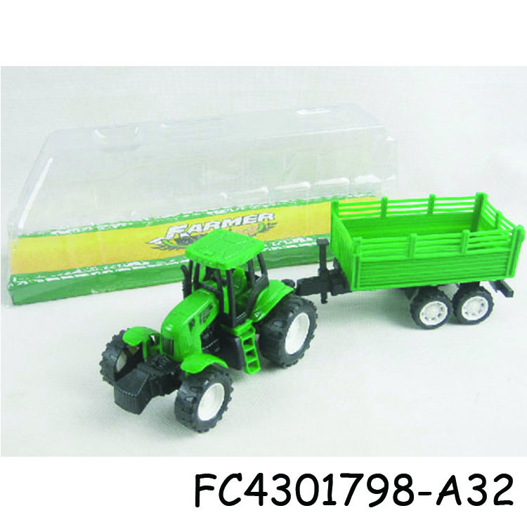High quality plastic <strong>friction</strong> farm truck toy for sale FC4301798-A32