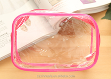 2016 Wholesale new style clear cosmetic pvc zipper bag