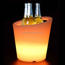 SX-2730-ICB 5L LED Ice Bucket 2016 New Design 7 Colors LED Ice Bucket LED Wine Bucket LED Bucket Cooler LED Ice Tong