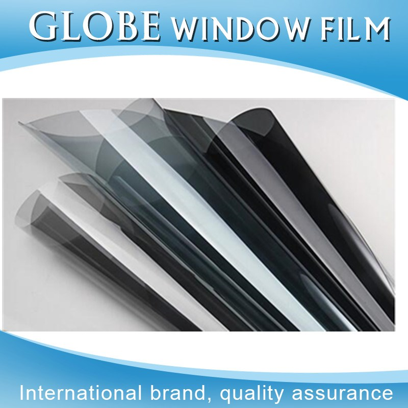 Dark black removable dyed window film at factory price wholesale 1.52*30m heat reduce fadeless car solar window film