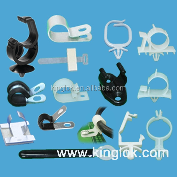 Wire Saddle Flat Cable Clamp High Quality Nylon Wire Mounting Clips Self-adhesive cable clamps auto plastic wire clip