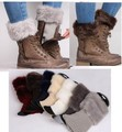 Fur Leg Warmers Knitted Boot Cuffs Short Boot Cuffs Winter Warm Gaiters