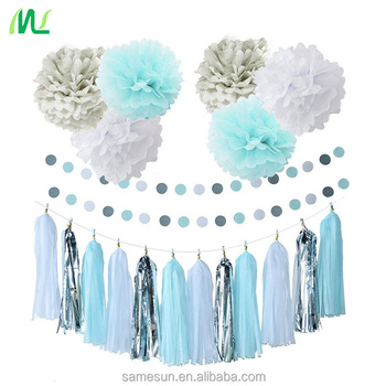 Tissue Paper Garland Set Christmas Paper Decoration