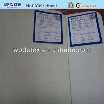 hot melt toe sheet,nonwoven hot melt fabric,double sheet glue