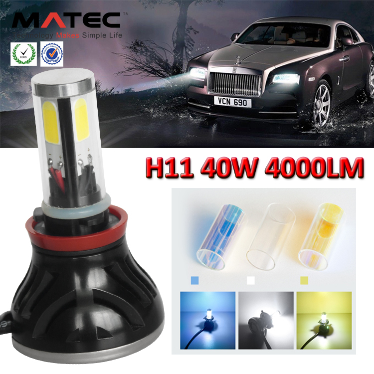 auto parts, G5 Led Car Headlight H1 H3 H7 H11 H4 880 881 9006 9005 Cob Led Headlight, 40w 80w car skoda octavia led headlight