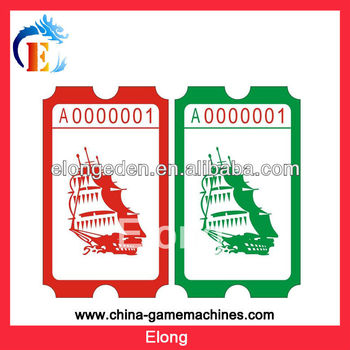 2014 Amusement game machine Game machine tickets