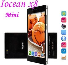 New Original iocean x8 mini phone mtk6582 quad core 1.3GHz Android 4.4 1G RAM 32G ROM 5.0 inch IPS Screen with 3G 900MHz/2100