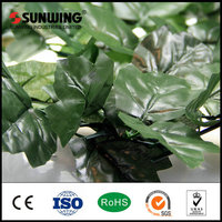 outdoor mini green artificial tree leaves plants