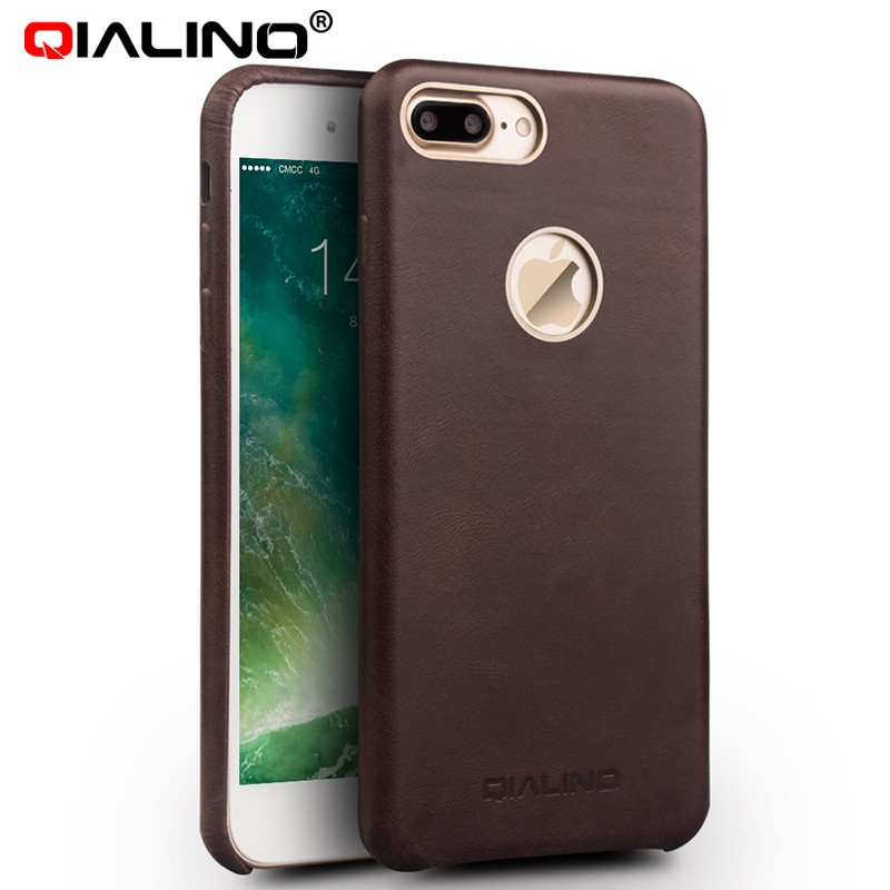 QIALINO Quality Assured Customizable Hand-Made For 5.5 inch Iphone 7 Leather Cover Case