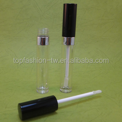 Cosmetic OEM Empty Packaging Container 5.5 g Plastic Clear Lip Gloss Tube With Wand and Doe-Foot Applicator (C347)