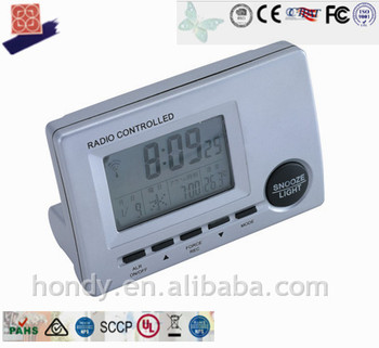 Small Modern Automatic Digital LCD Table Alarm Clock With Temperature