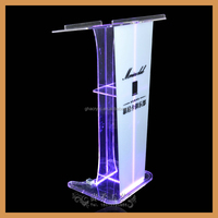 YZ-0055 funky steel lectern podium /led podium/ transparent podium