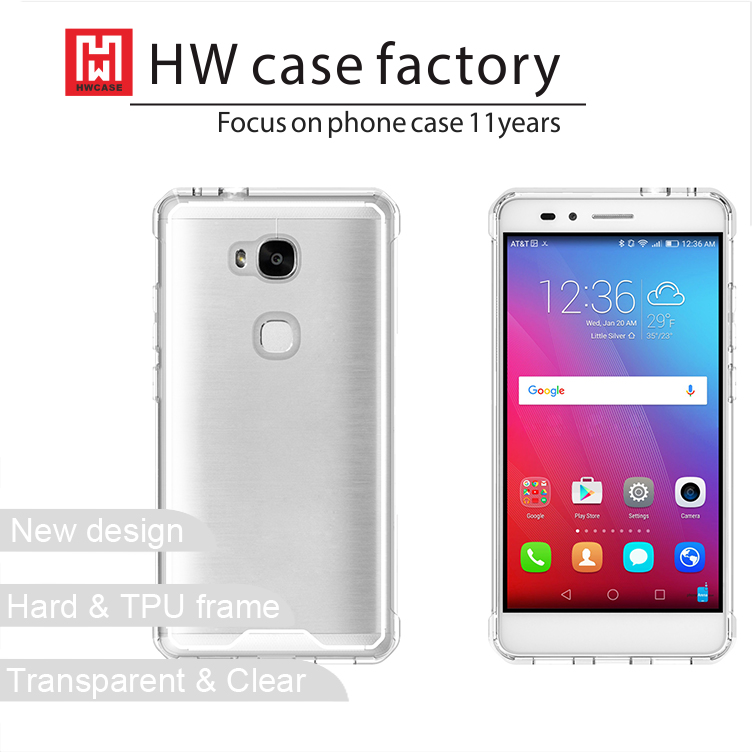 Clear TPU phone case for Huawei Honor 5X ultra thin transparent back cover