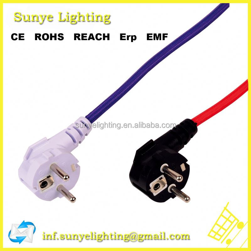 Textile cord with lamp holder,switch,banana plug for ecg
