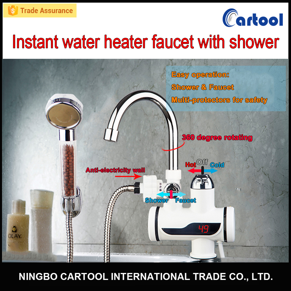 Full 304 stainless steel instant water heater faucet electric hot water tap