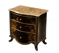 Bedroom furniture solid wood hand painting marble top night stand