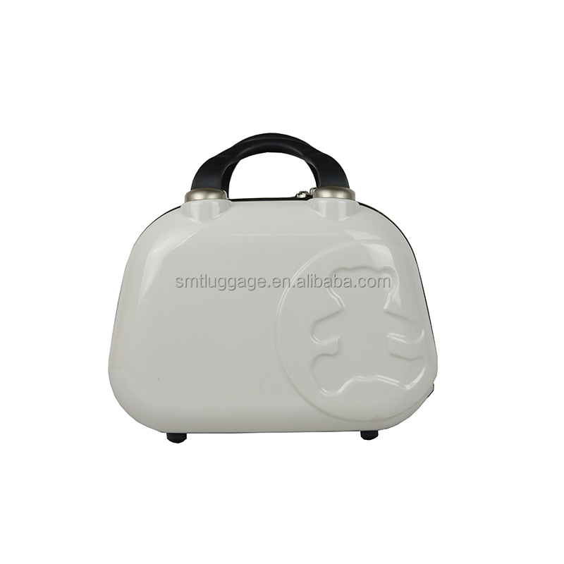 travel vanity case with teddy bear embossed