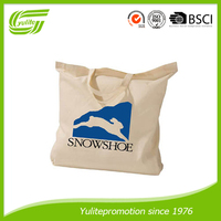 wholesale standard size organic cotton tote shopping bag