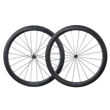 ICAN 25mm wide lightweight carbon 3K brake side 700C wheel clincher tubuless road bike wheels with Nova tec hub