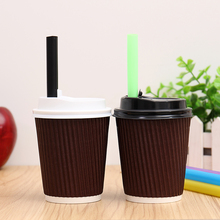 PC02 7oz 12oz Vietnam Juice Design Custom Tea Hot Drink Printed Double Wall Disposable Paper Coffee Cup