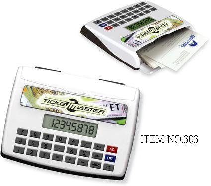 calculator with card case