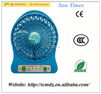 Mini Polychrome Rechargeable Portable USB Desk Cooling Fans