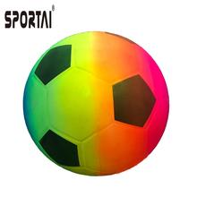 factory price high quality PVC deflated Rainbow Color Toy Ball Rainbow Color Basketball/Playground ball/Volleyball/football
