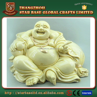 China direct sale kindly buddha decoration resin customized figurines to paint