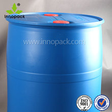 200 litre/55 gallon blue plastic drum with small open top for seafood/liquids packing