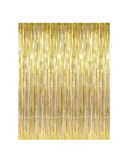 EasternHope Wedding Decor 3.2 ft 6.6 ft Metallic Tinsel Party Photo Backdrop Foil Fringe Curtain Bridal Shower <strong>Supplies</strong>