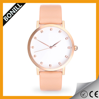 Promotional gift stainless steel fancy custom logo women watch