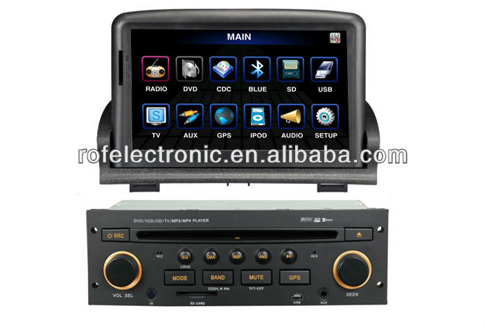 car DVD player navigation for Peugeot 307