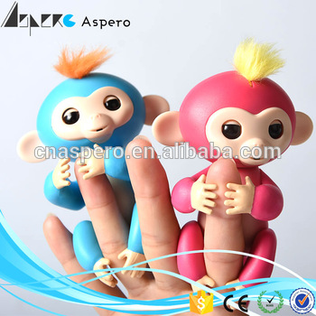 2017 new arrival Six touch interactive baby monkey finger toy Hot selling in US