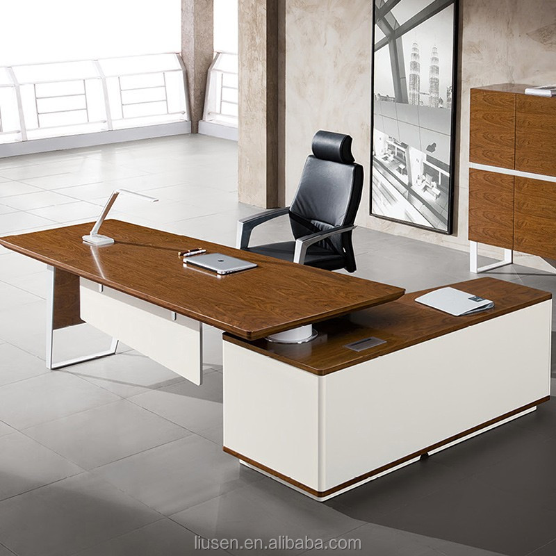 Factory Supply Executive Table L Shape Modern Law Office Furniture For Tall  People