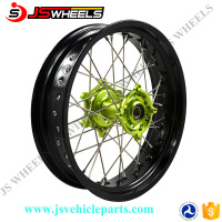 17x5.0 Kawasaki Supermoto Motorcycle Rear CNC Alloy spoked wheels for KLX250
