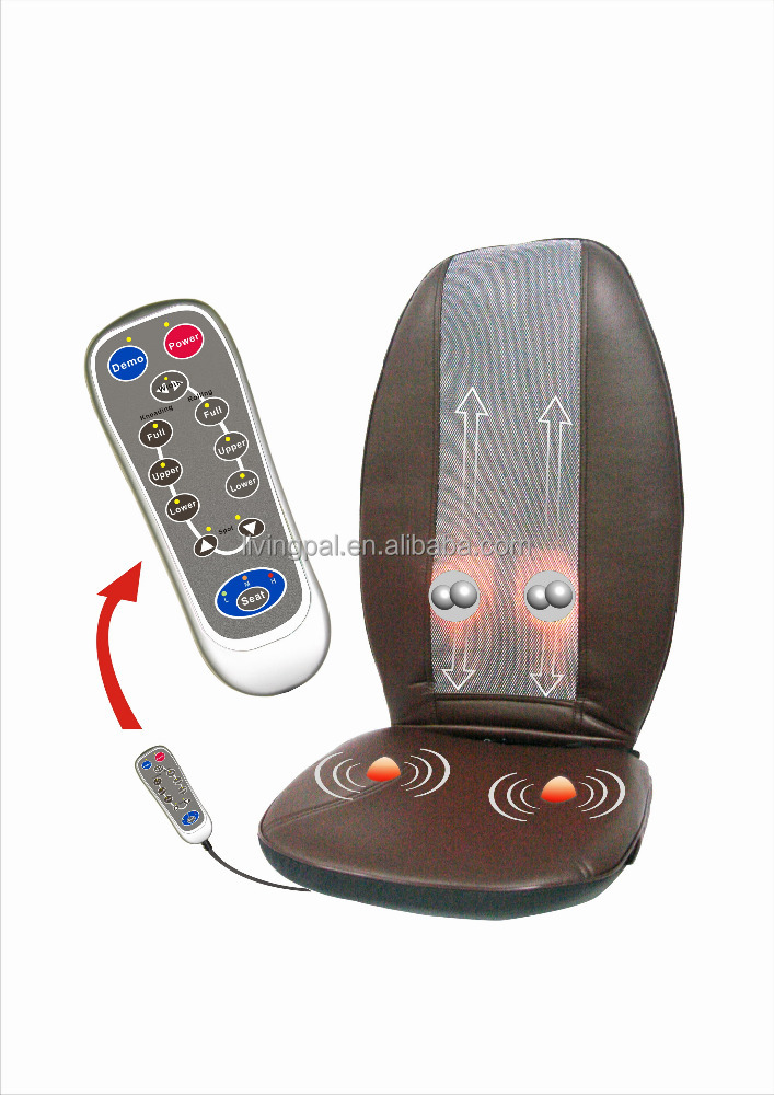 portable kneading shiatsu heating back massager for home and car use