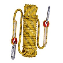 Rescue safety rope with carabiners polyester 10mm climbing protection rope